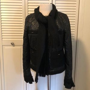 Tory Burch jacket small with attached scarf